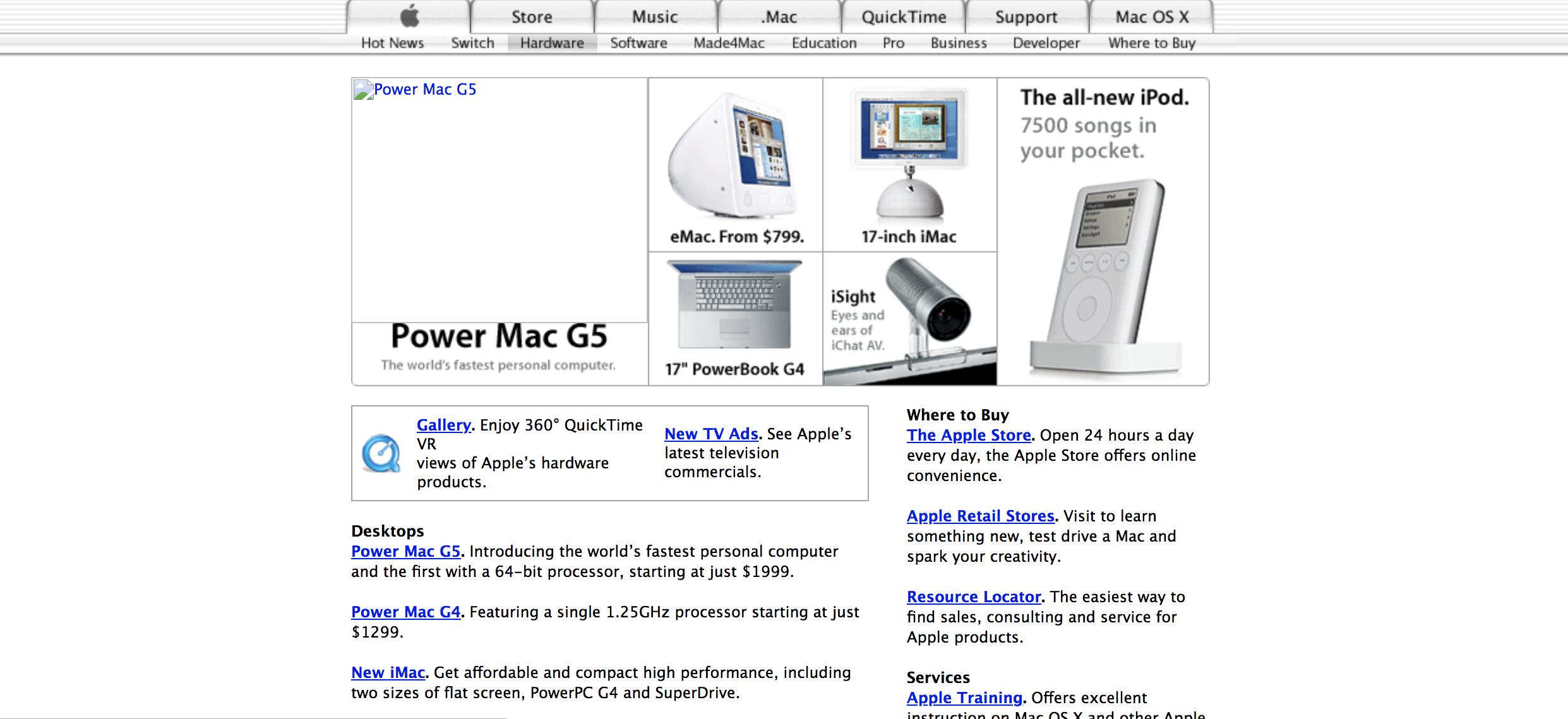 《官网截图详细介绍,带你回顾2000-2006年的Apple Mac产品(中,2002年、2003年、2004年)》