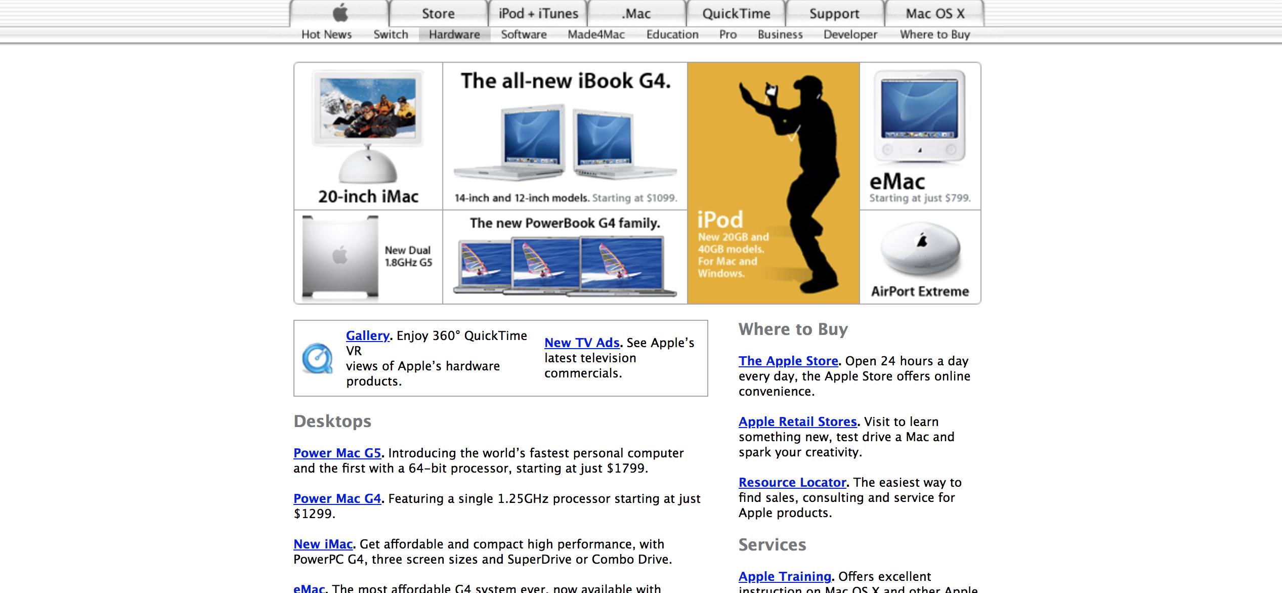 官网截图详细介绍,带你回顾2000-2006年的Apple Mac产品(中,2002年、2003年、2004年)
