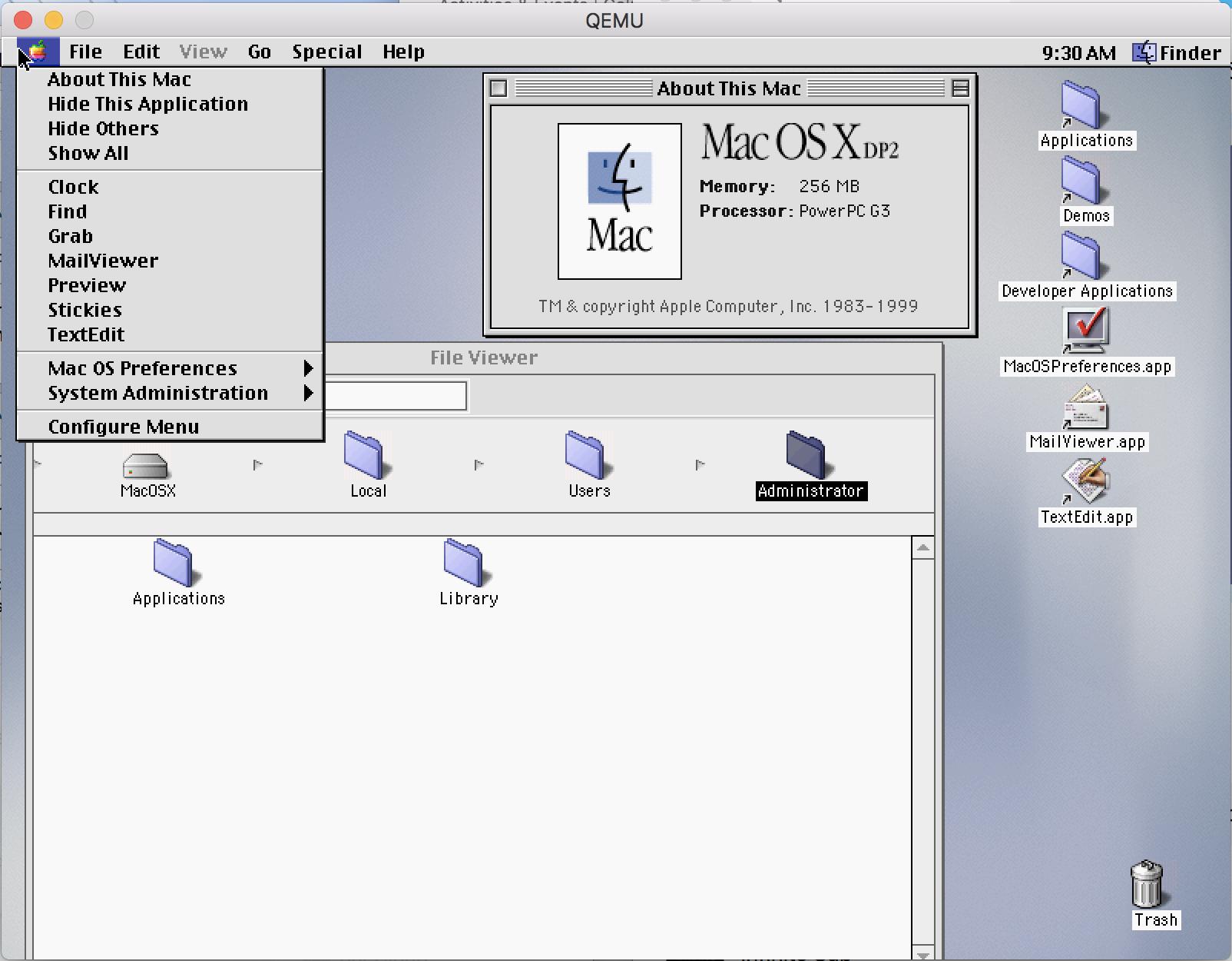 Mac OS X Developer Beta 2 & 3图赏:从Platinum到Aqua