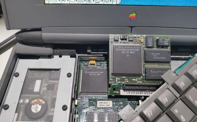 几款早期68k PowerBook,对比桌面Macintosh的跑分测试